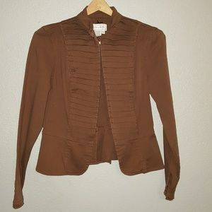 Brown Military Style Jacket Sz S
